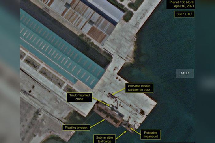 38 North: Kapal untuk Uji Coba SLBM Korut Kembali ke Posisi Awalnya
