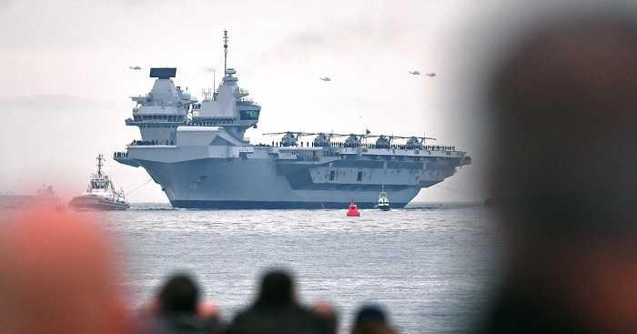 AL Inggris Laporkan Klaster Covid-19 di Kapal Induk