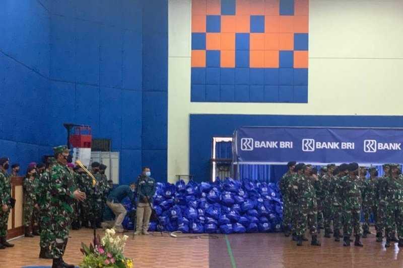 Apresiasi Penegakan Prokes, BRI Beri Bantuan 21.300 Paket Sembako ke Prajurit TNI AD