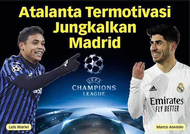 Atalanta Termotivasi Jungkalkan Madrid