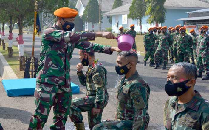 Bangganya 7 Prajurit Ini Resmi Masuk Detasemen Matra 2 Paskhas.