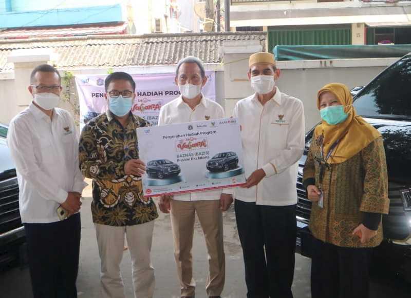 Bank DKI Berikan Hadiah Program JakOne Vaganza 2021