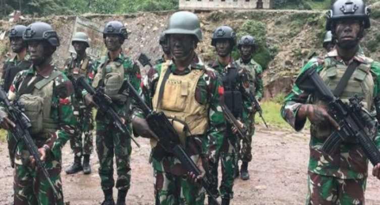 Di Pagi Buta, Pasukan Yonif 715 Raider Tewaskan Komandan OPM dalam Sebuah Kontak Tembak