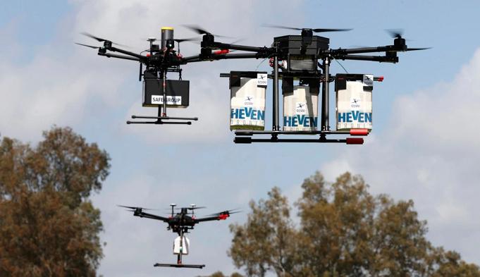 Dinas Pos Inggris Gunakan Drone untuk Kirim APD dan Alat Tes ke Pulau-Pulau Terpencil