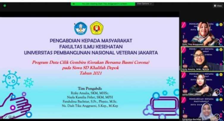 Dosen Fakultas Ilmu Kesehatan UPNVJ Gelar Kegiatan Duta Cilik Gerakan Bersama Basmi Korona