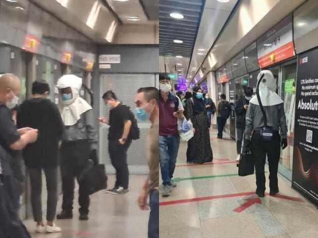 Gawat Jangan Sampai ke Indonesia, Warga Singapura Panik Naik Kereta Pakai Respirator