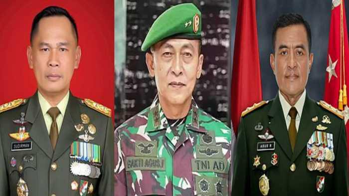Ini Dia, Tiga Perwira Tinggi TNI AD yang Resmi Jadi Jenderal Bintang Tiga