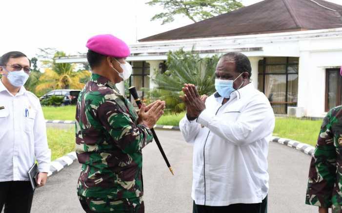 Jenderal Bintang Satu Marinir Sambangi Kantor Bupati Sorong Papua
