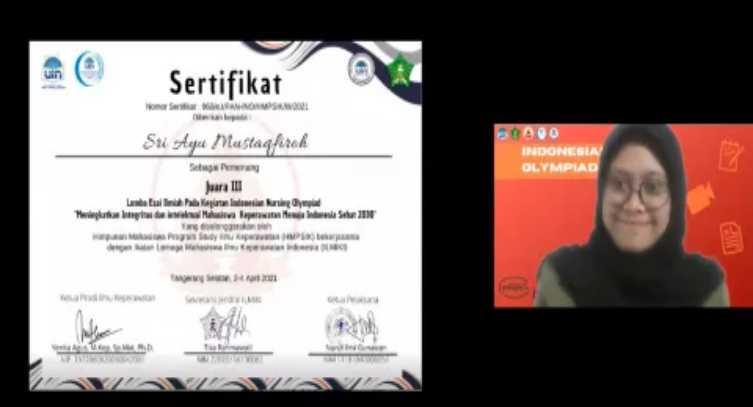 Mahasiswi Fikes UPVNJ Jadi Juara 3 dalam Ajang Indonesian Nursing Olympiad 2021