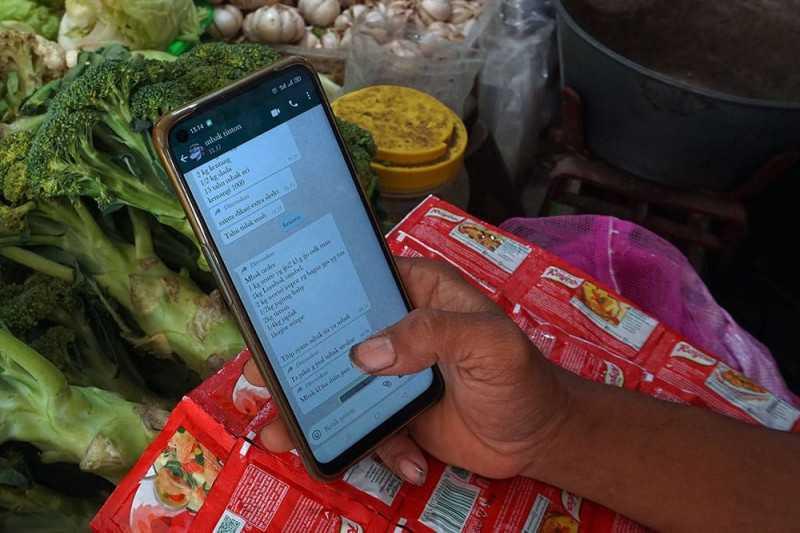 Mantap, Pedagang Pasar Tradisional di Kediri Sudah Bisa Manfaatkan Layanan Daring