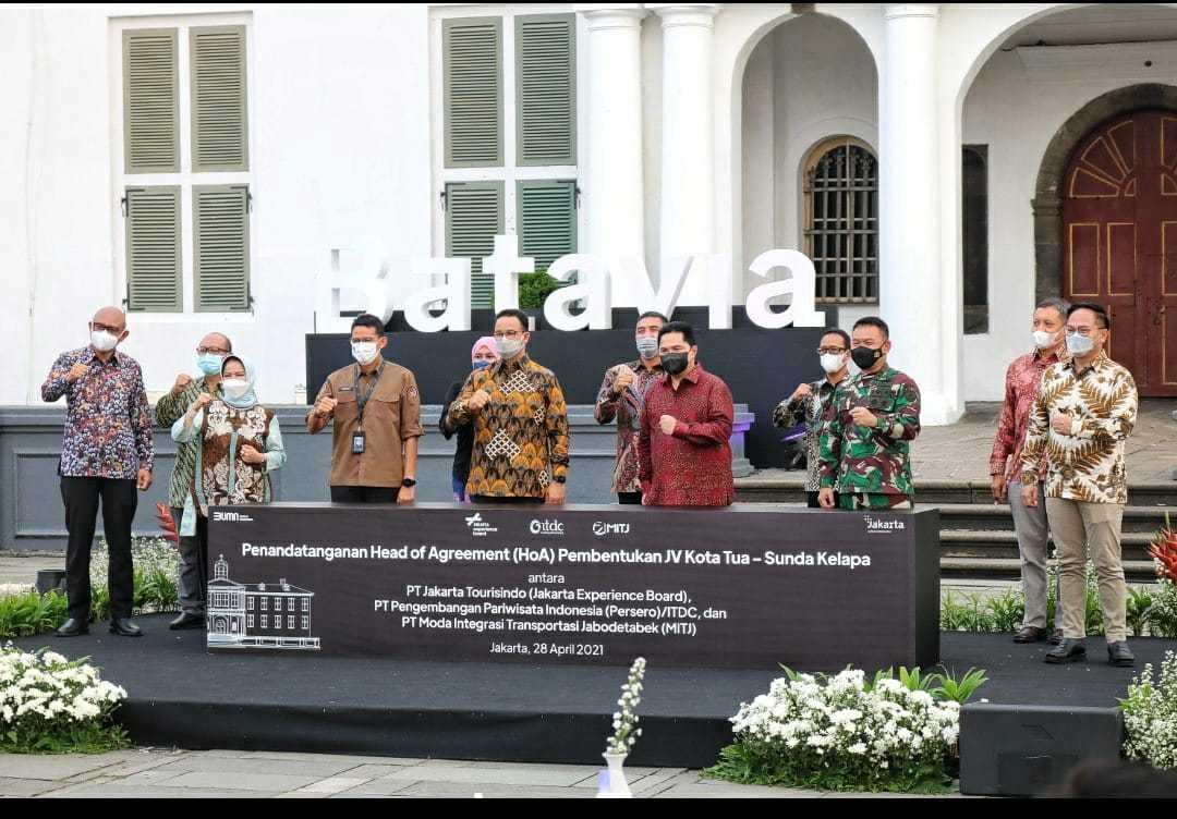 Pangdam Jaya Hadiri Undangan Acara Penandatangan  Head Of Agreement (HOA) Pembentukan JV Kota Tua