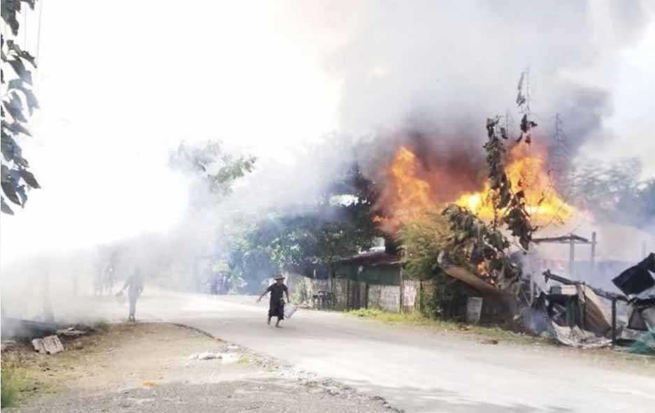 Pasukan Junta Bakar Desa-Desa