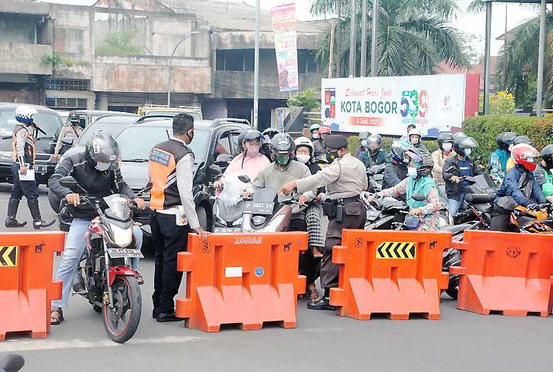 Penyekatan di Kota Bogor Diperluas Jadi 17 Lokasi