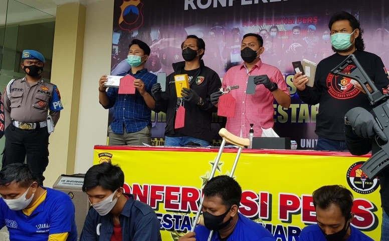 Tiga Anggota Komplotan Begal Diringkus Polrestabes Semarang