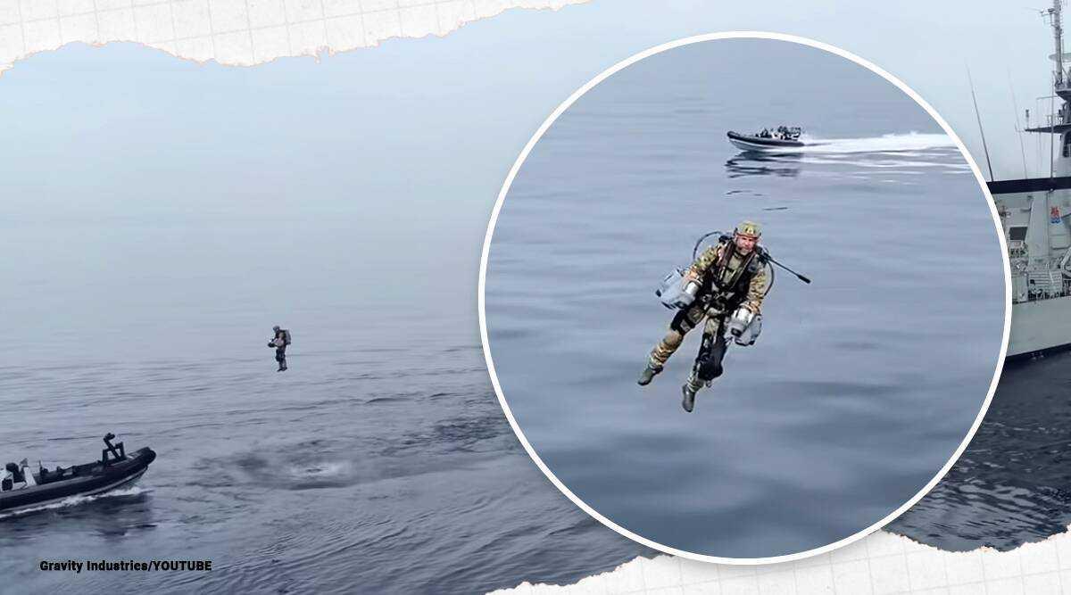 Royal Marines Terbang Seperti Iron Man Menggunakan JetPack