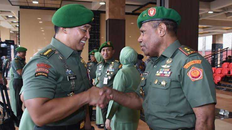 Saat Jenderal Andika Melepas Sahabatnya Salah Satu Prajurit Terbaik Papua
