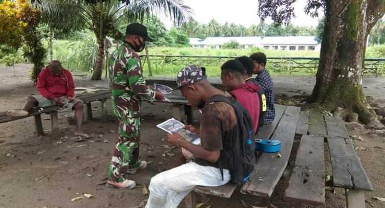 Saat Para Babinsa Turun ke Kampung-kampung Ajak Pemuda Papua Jadi Prajurit TNI