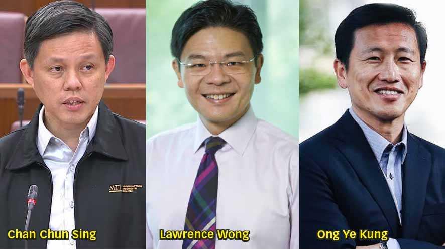 Tiga Menteri Dijagokan Jadi Pengganti PM Lee