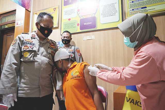 Vaksinasi Tahanan